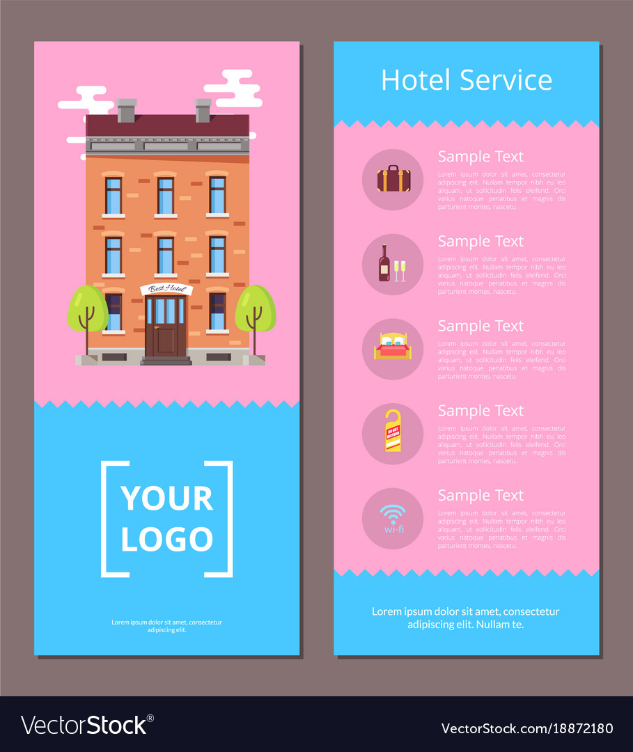 Hotel Service Booklet Template With Information Vector Image - Information brochure template
