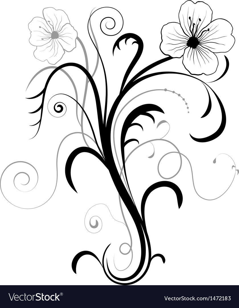 Abstract floral for design vector image