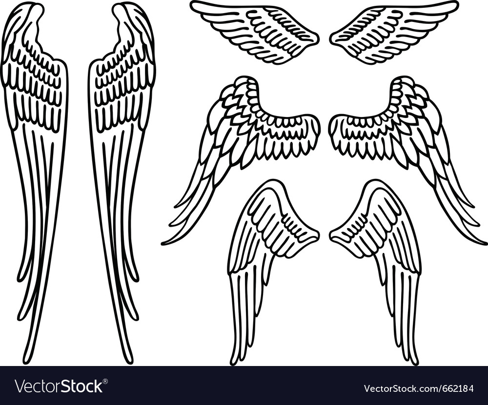 Description Angel wings isolated on white Expanded License Yes