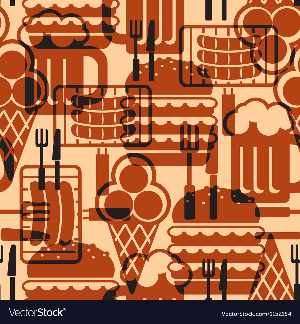 Food icons background vector image