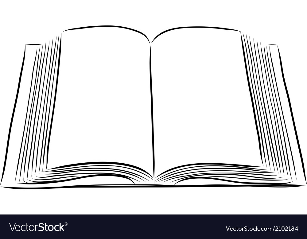 Open Book Cover Drawing ~ Open book hand draw royalty free vector image vectorstock