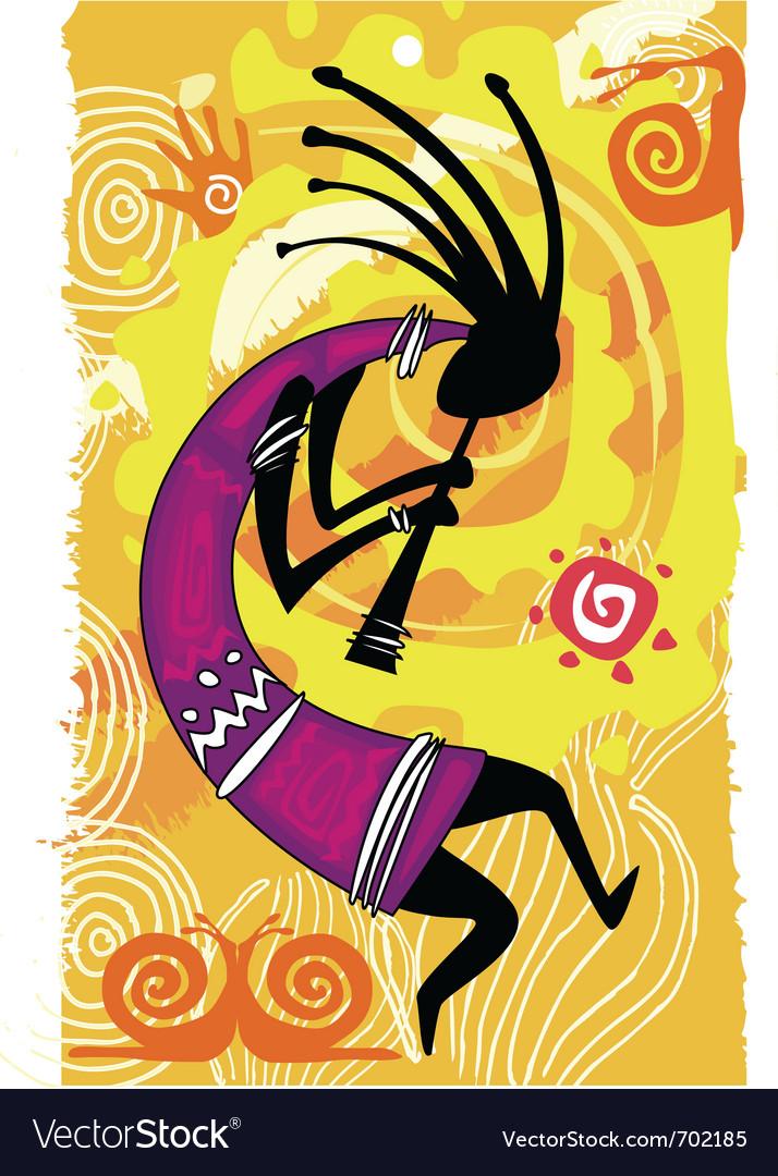 Dancing figure vector image
