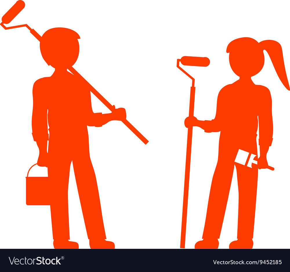 House Painters vector image