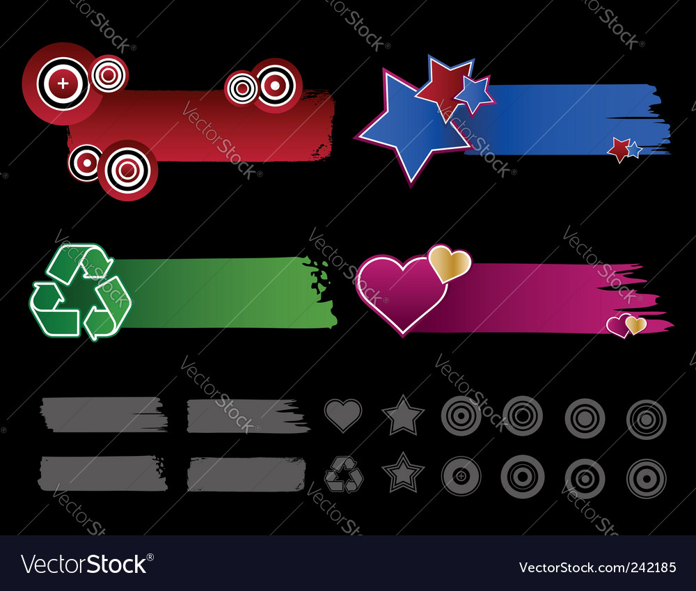 Satin banners vector image