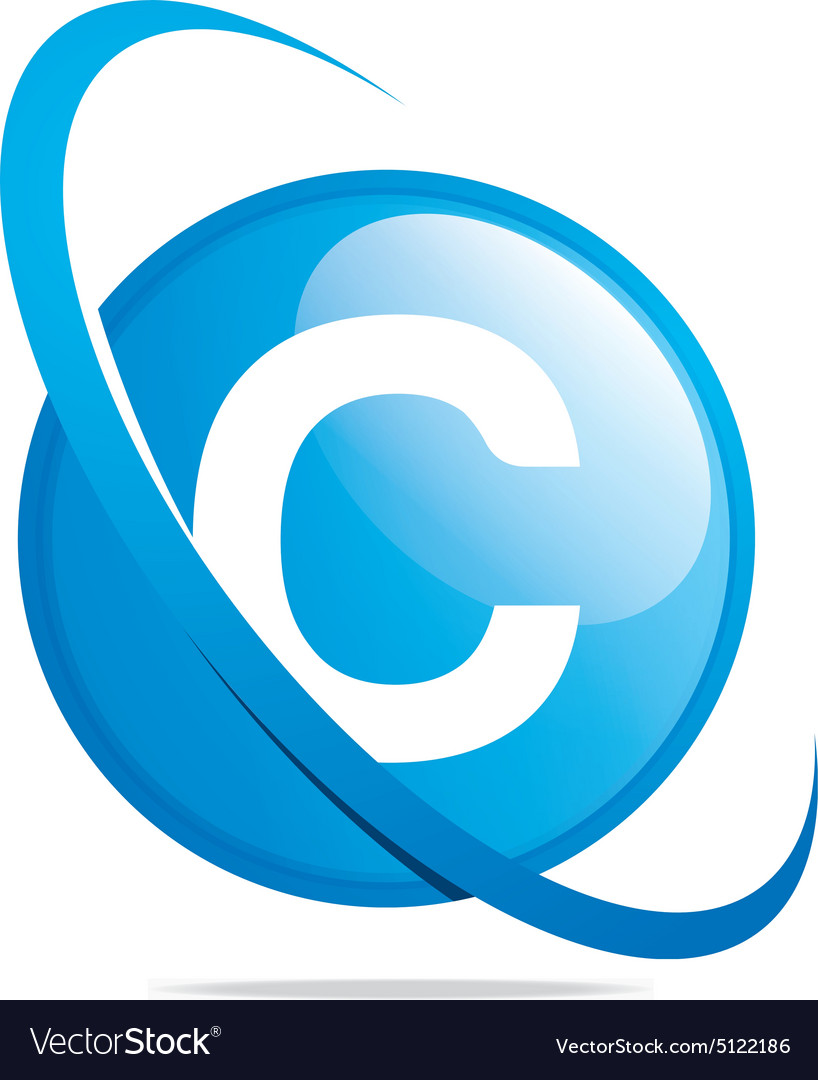 Circle globe round letter c blue abstract vector image biocorpaavc Images
