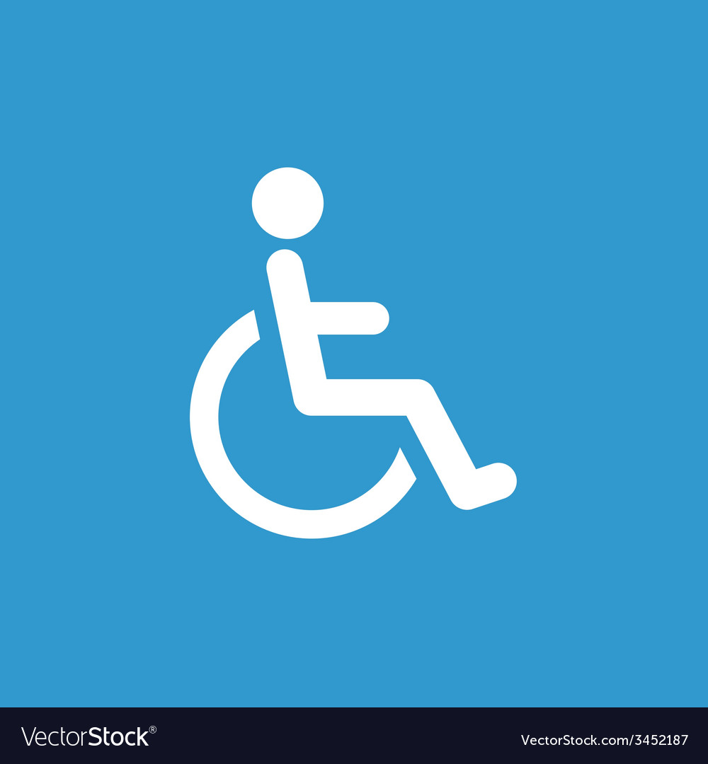 Cripple icon white on the blue background vector image