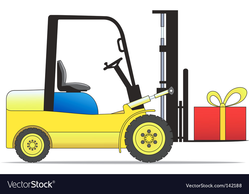 Forklift loader vector image