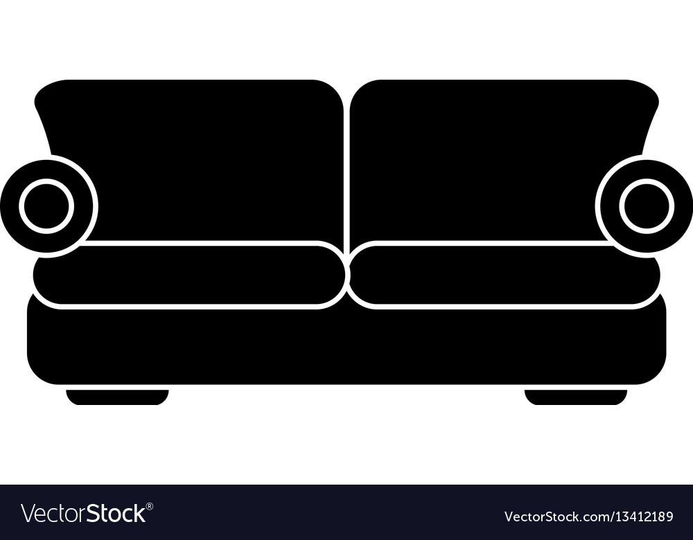 Sofa comfor furniture pictogram vector image