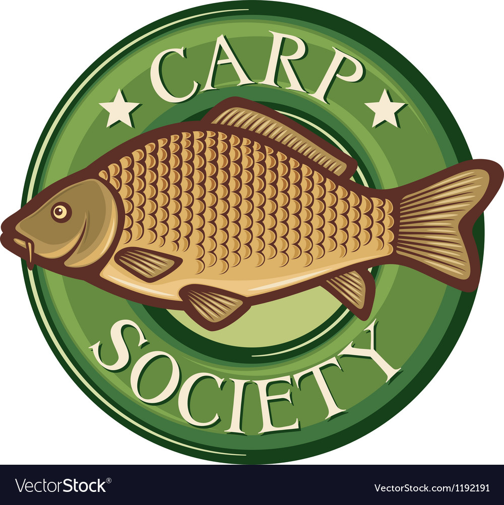 Carp society symbol vector image