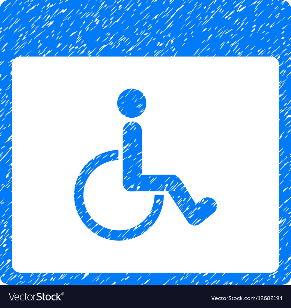 Handicapped Calendar Page Grainy Texture Icon vector image
