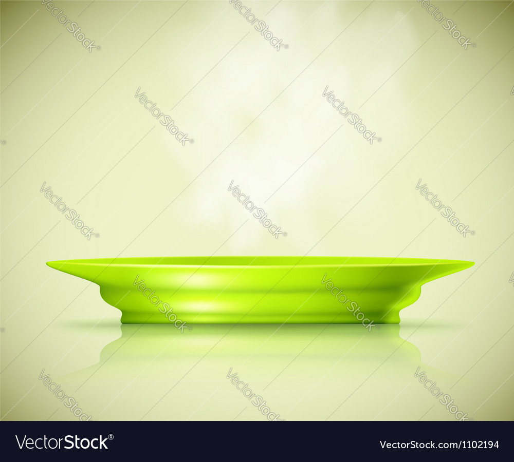 Plate with a hot dish vector image