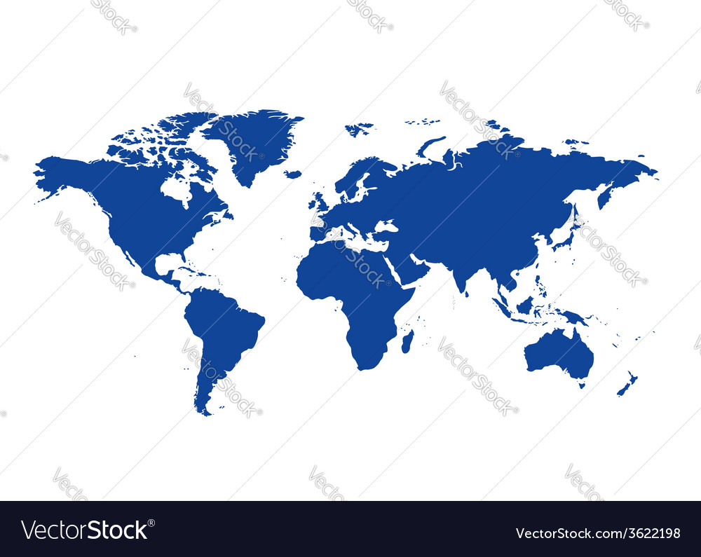 Dark blue map of the world continents royalty free vector dark blue map of the world continents vector image gumiabroncs Image collections