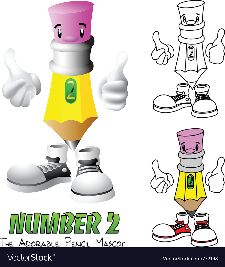 Number 2 vector image