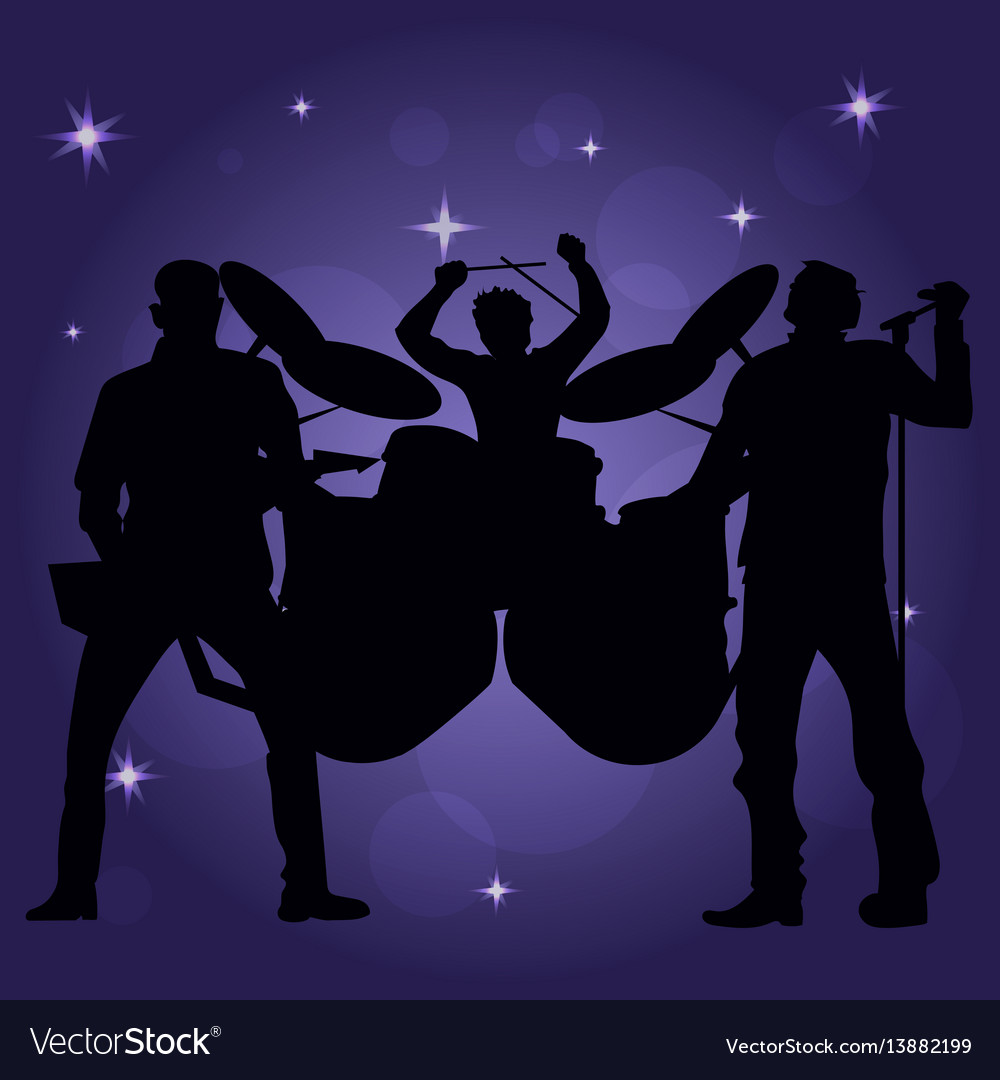 Band of performing musicans vector image