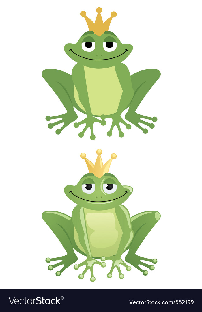 Frog prince royalty free vector image vectorstock for Frog agency