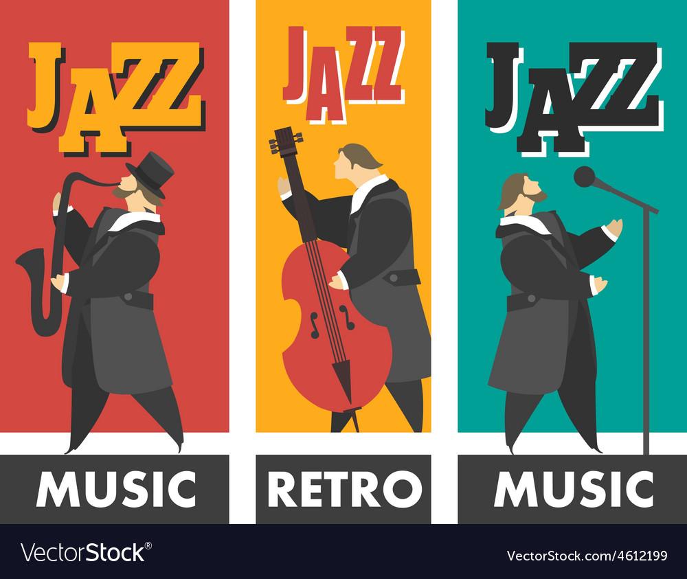 Jazz band vector image