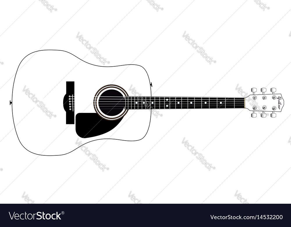 White guitar vector image