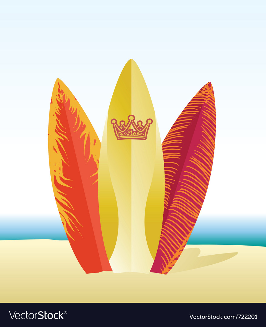 Surf beach Vector Image