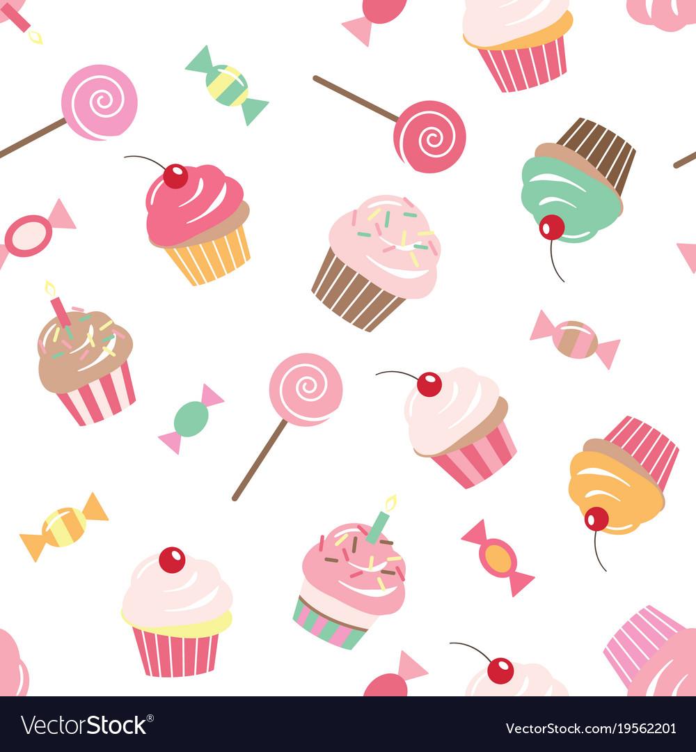 Birthday Cake Seamless Background