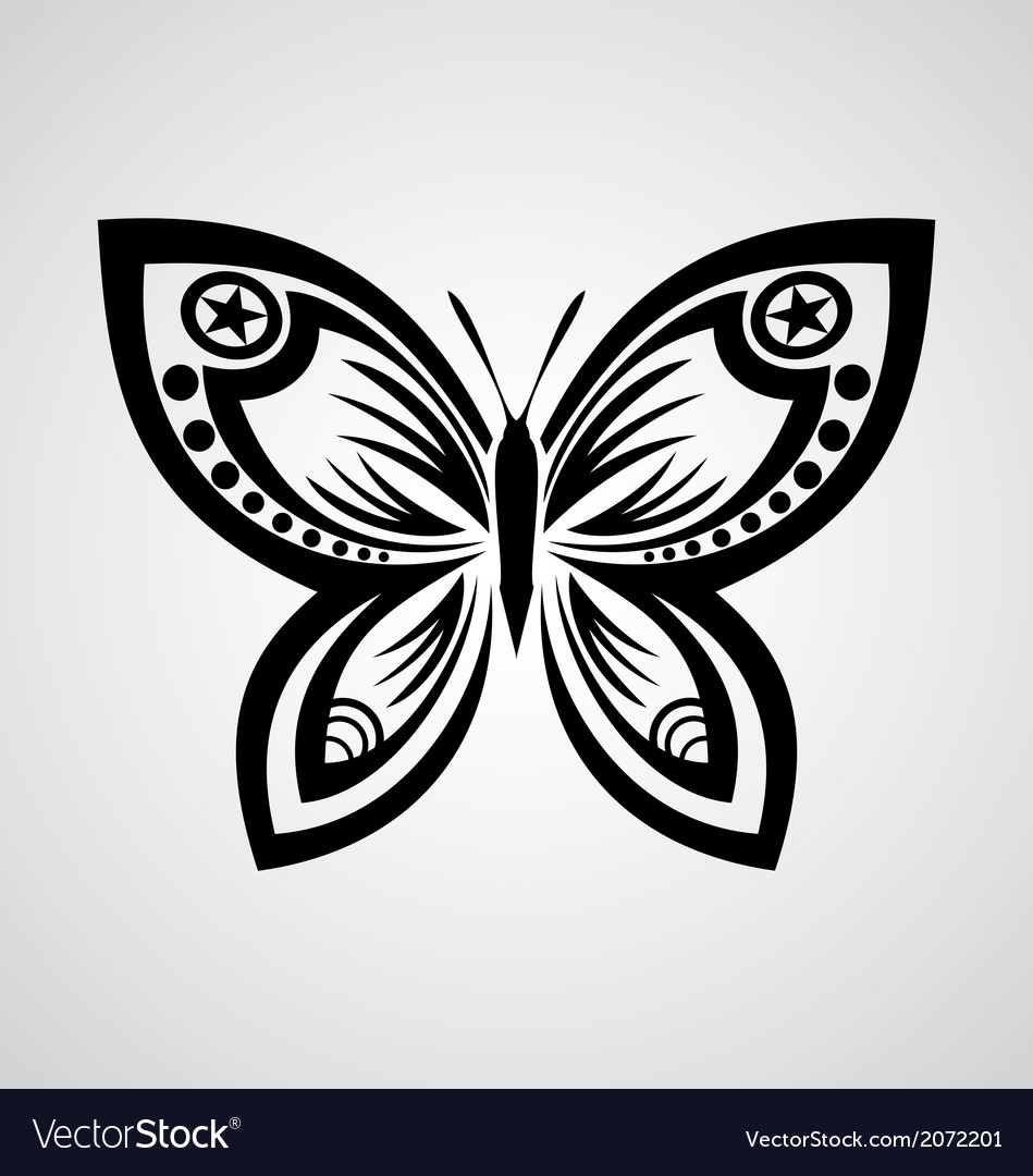 Butterfly Tribal Royalty Free Vector Image - VectorStock