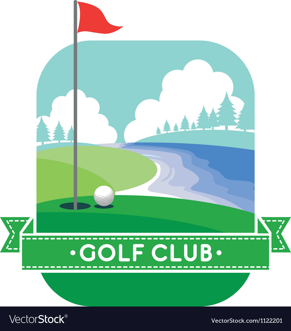 Golf yard vector image