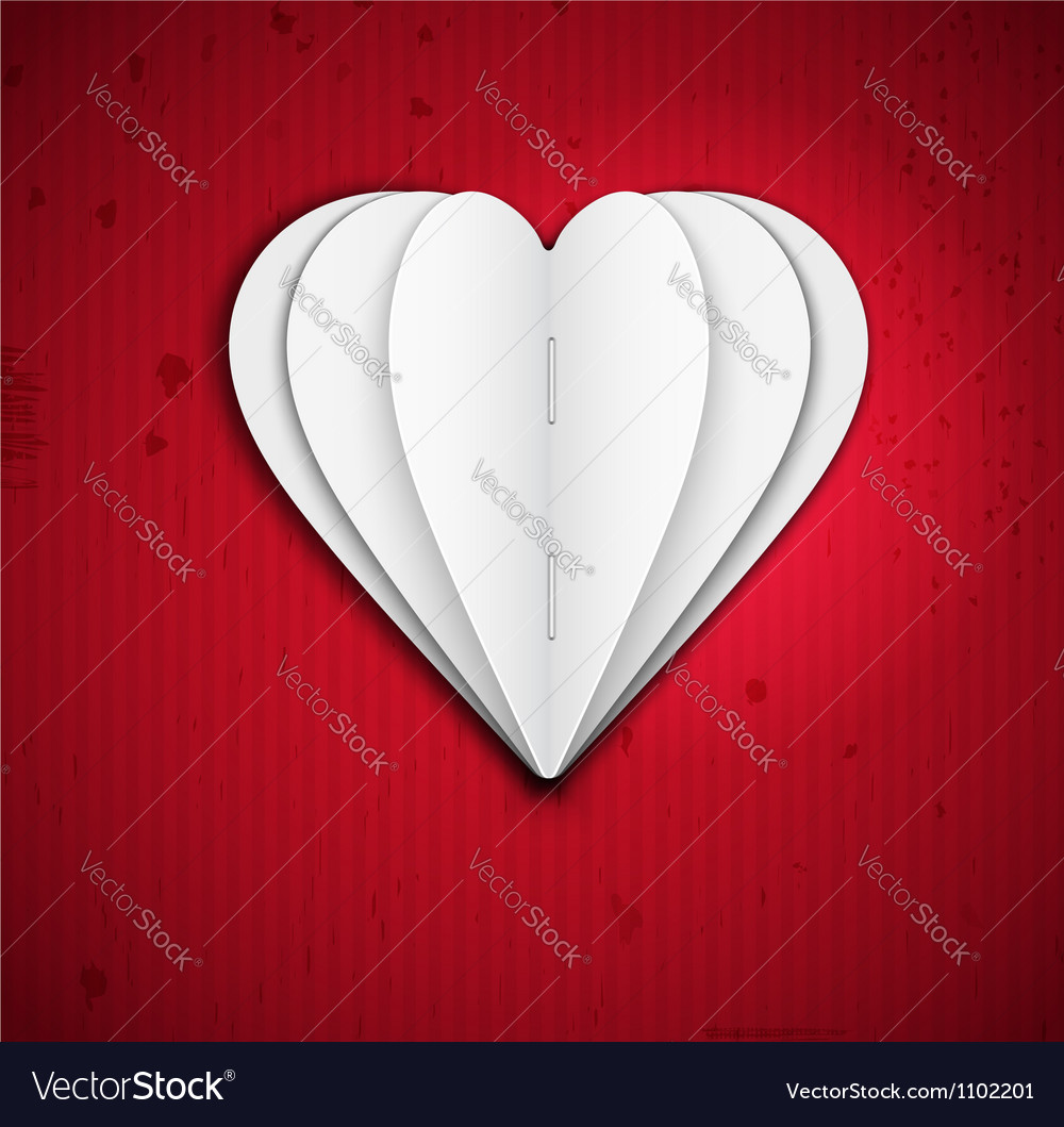 Heart of paper vector image