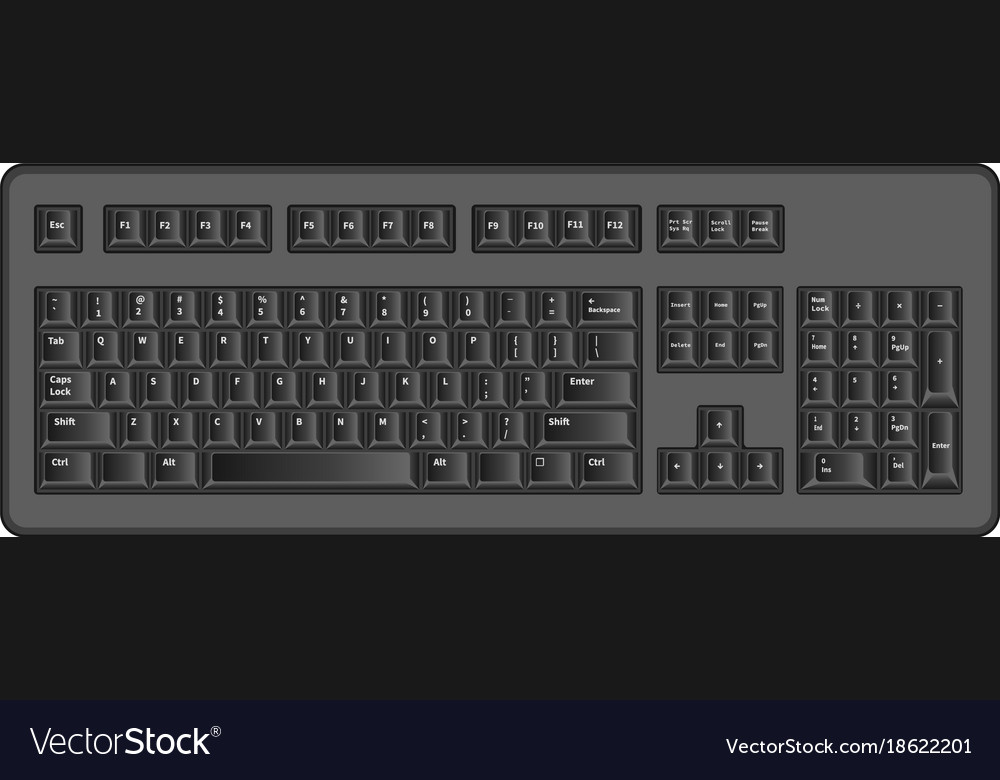 Object Computer Keyboard Symbols Royalty Free Vector Image