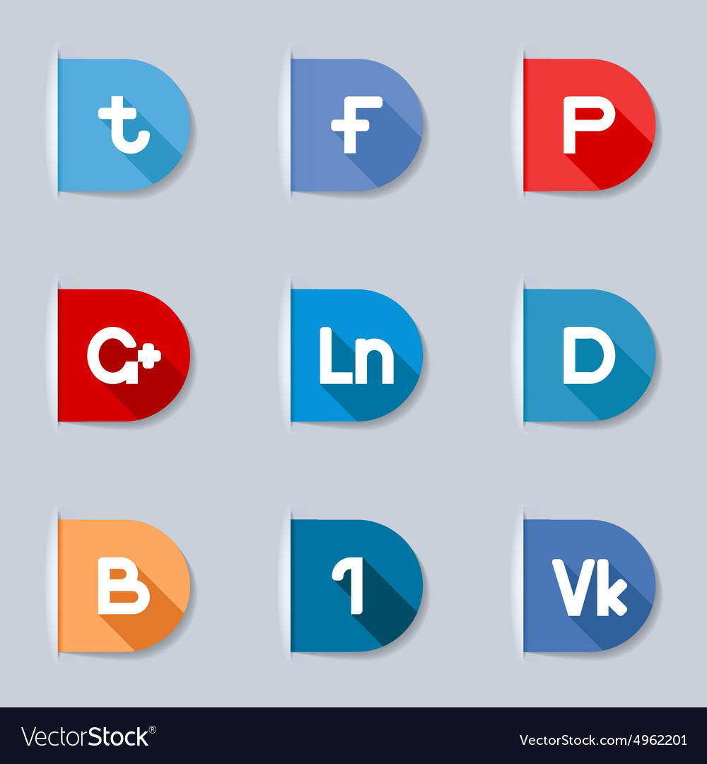 Social media labels vector image