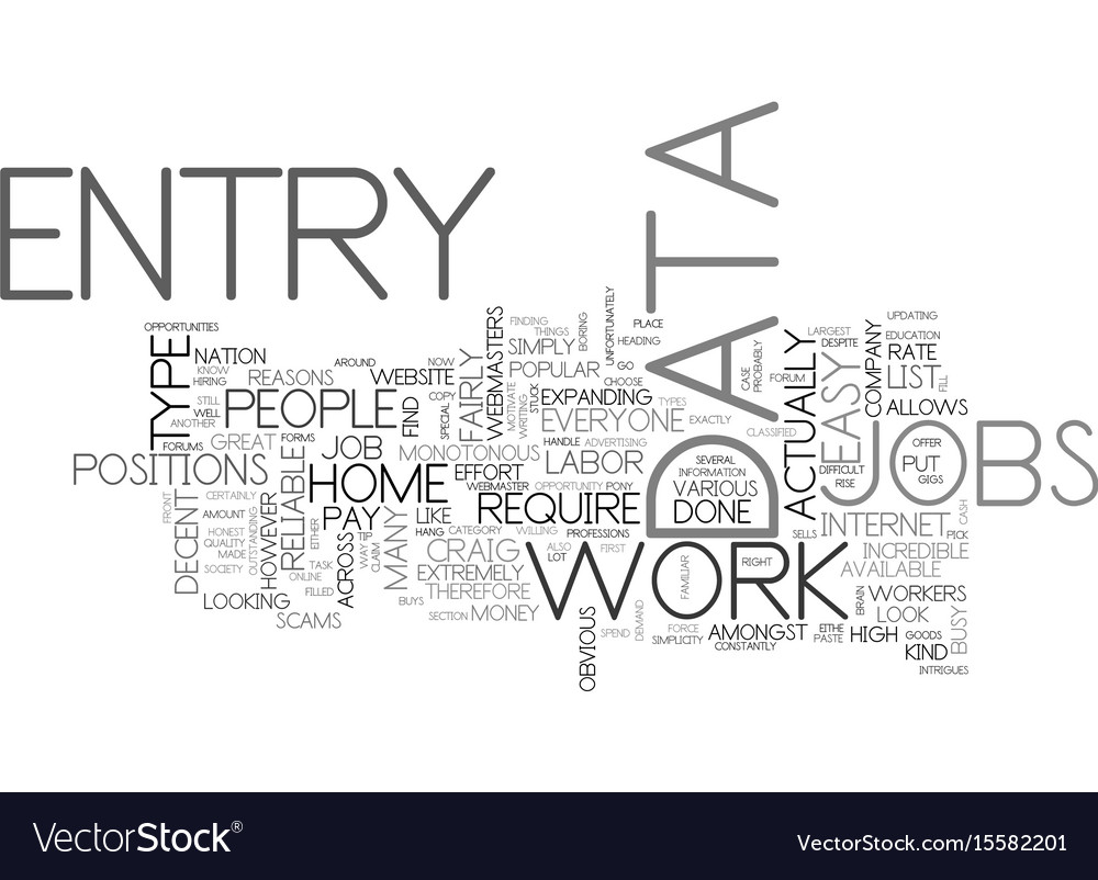 Where to look for reliable data entry jobs text vector image