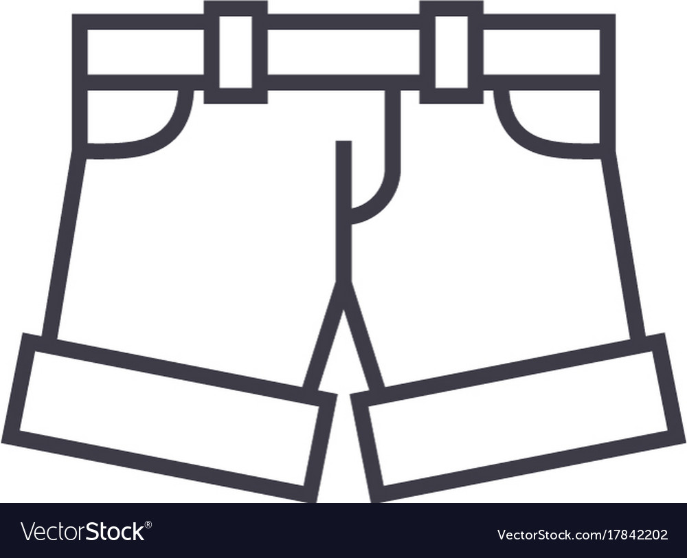 Shortsbriefs line icon sign vector image