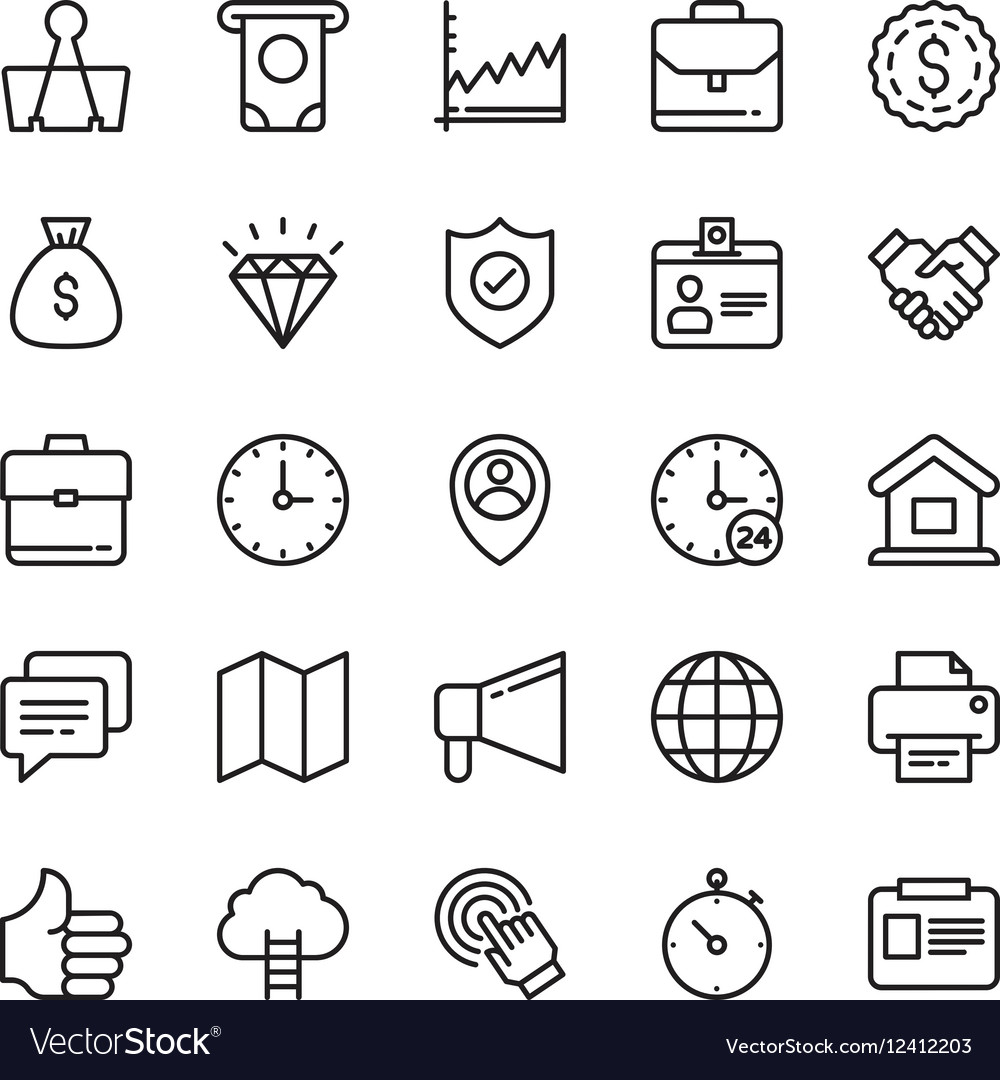 Business Icons 6 vector image