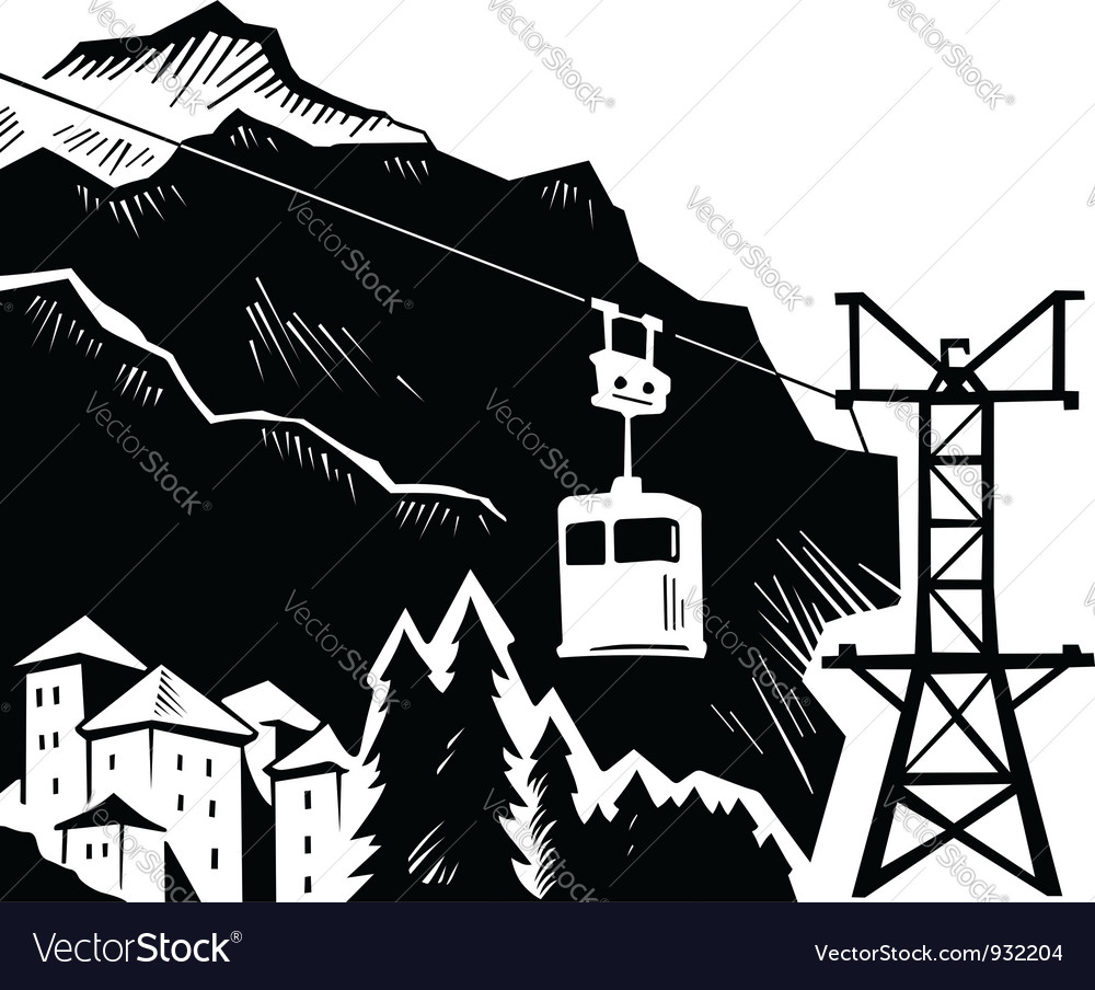 Mountains landscape vector image