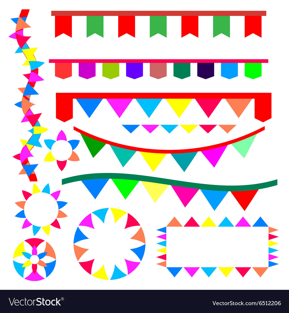 Ribbon for party vector image