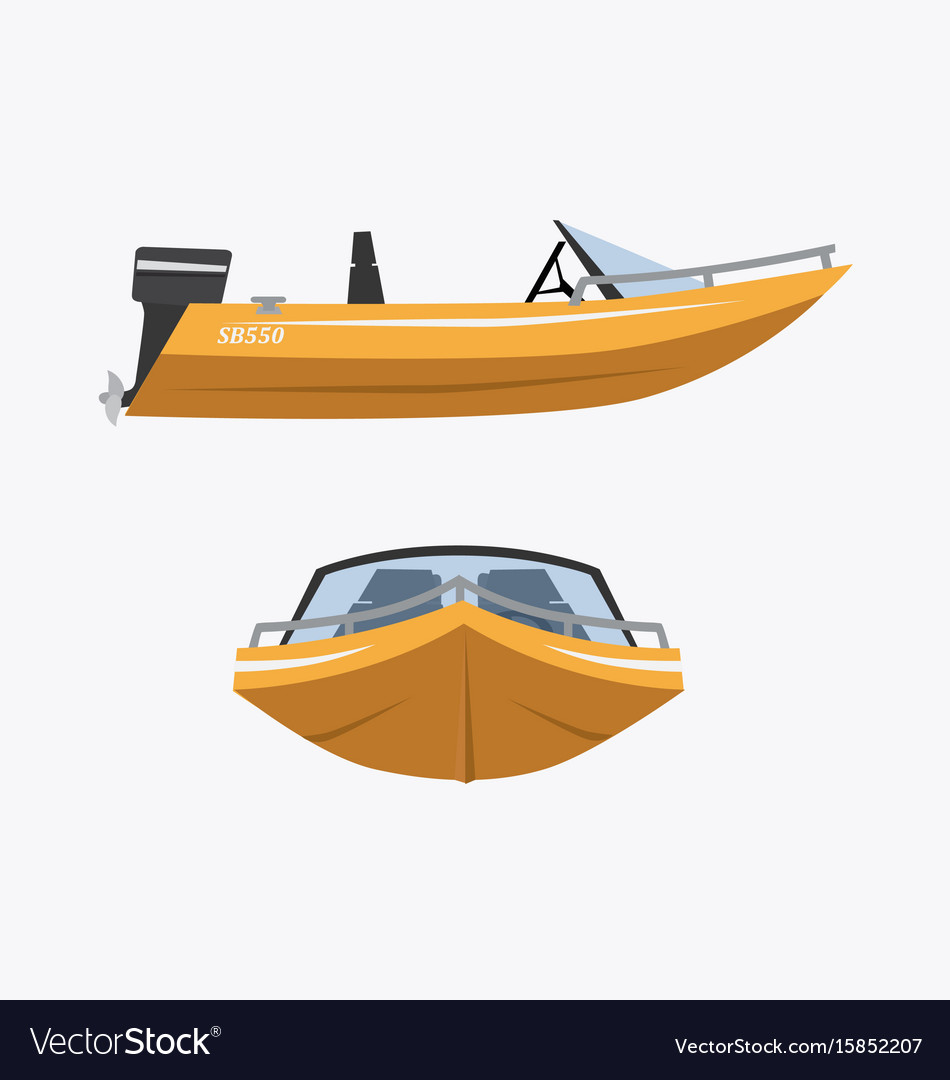 Cartoon speed boat vector image