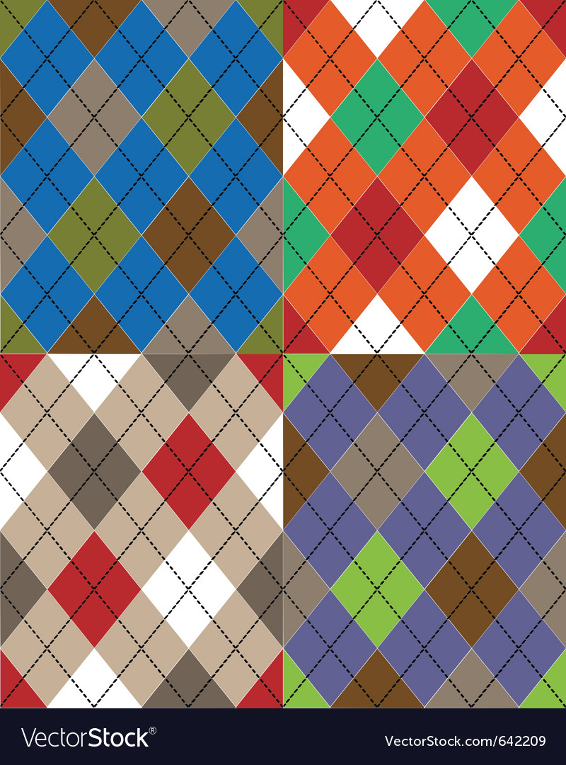 Scottish seamless texture vector image