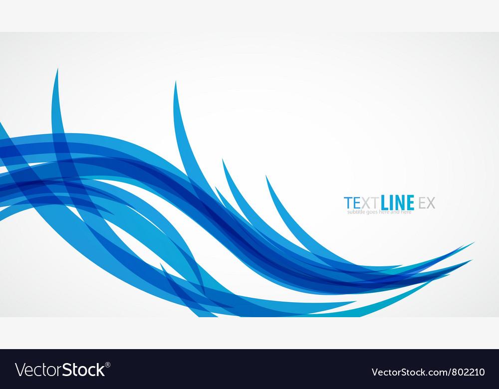 Blue wave vintage background vector image