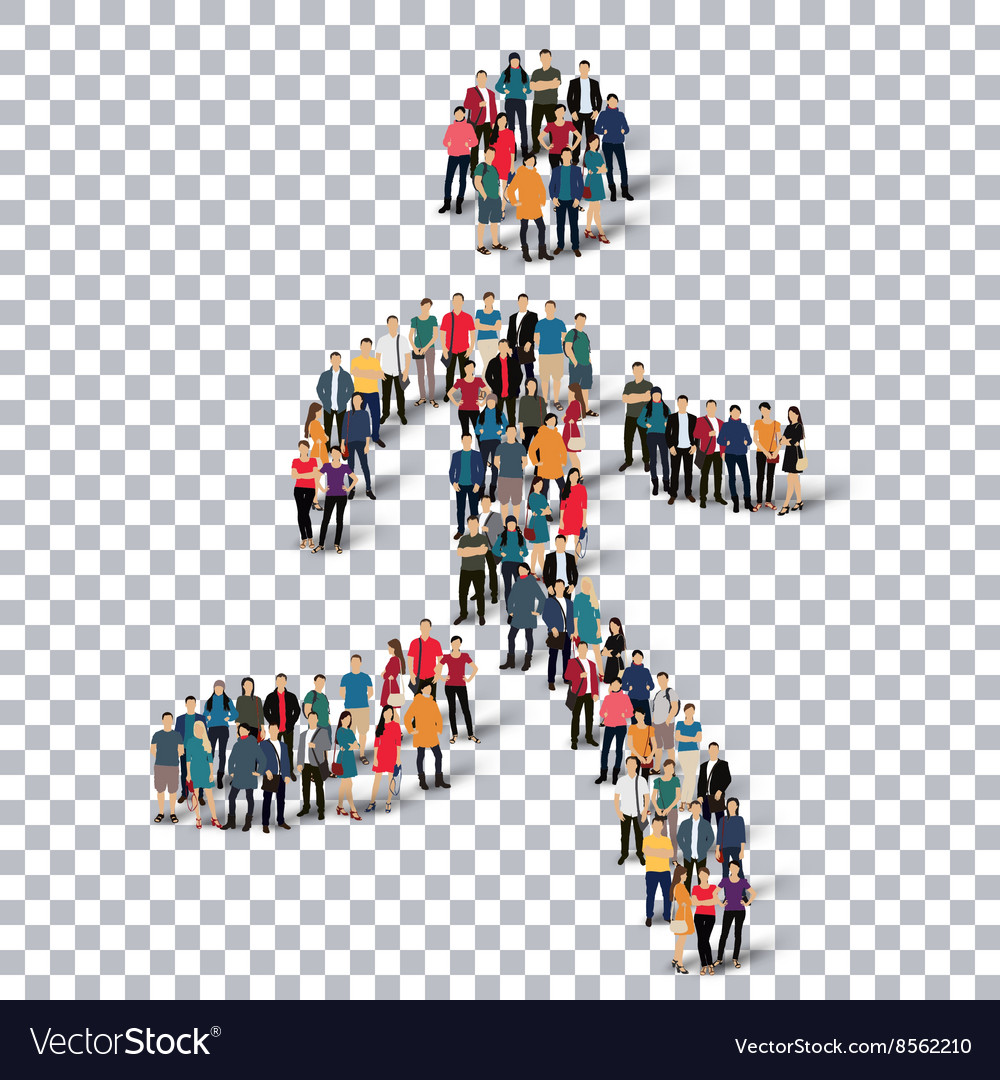 Running man people sign 3d vector image