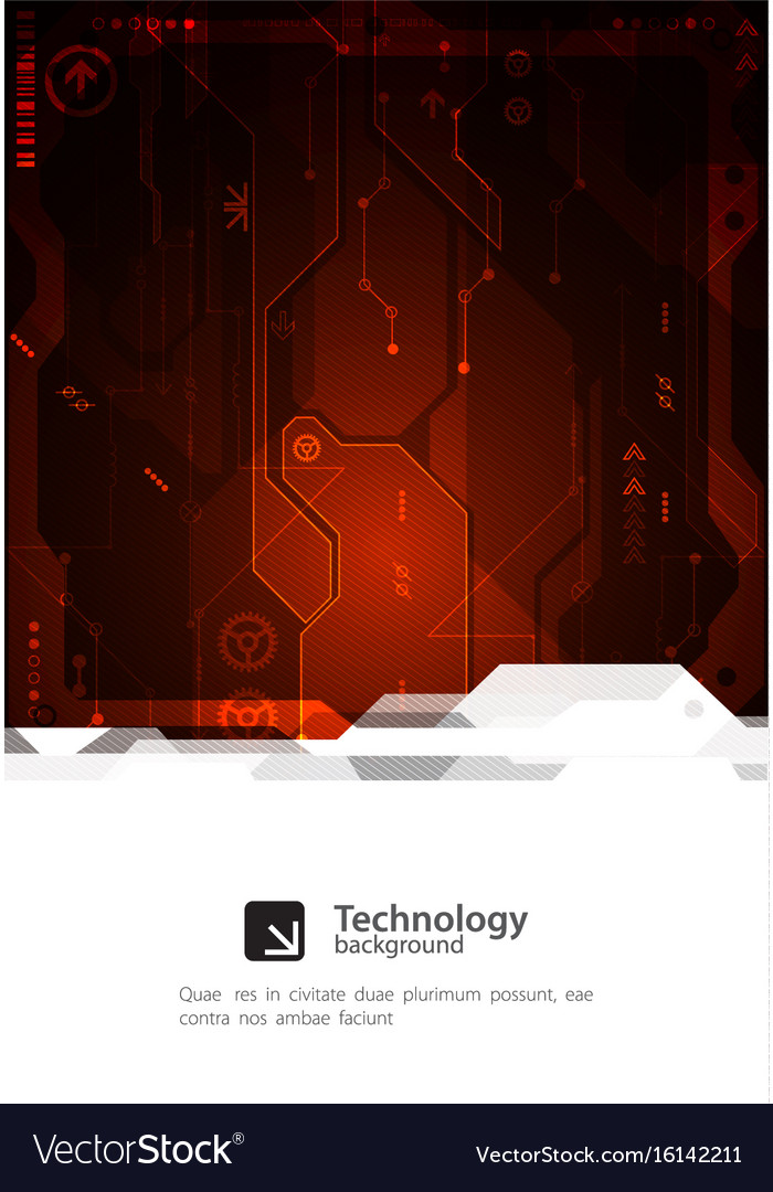 Hi-tech digital technology and engineering vector image