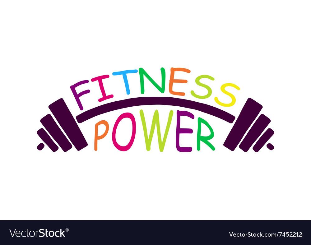 Stock fitness power logo vector image