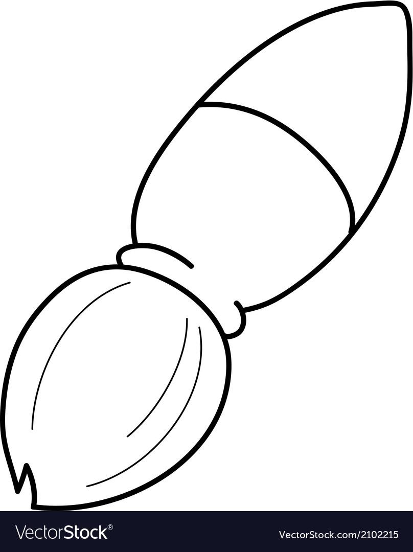 Cartoon paint brush vector image