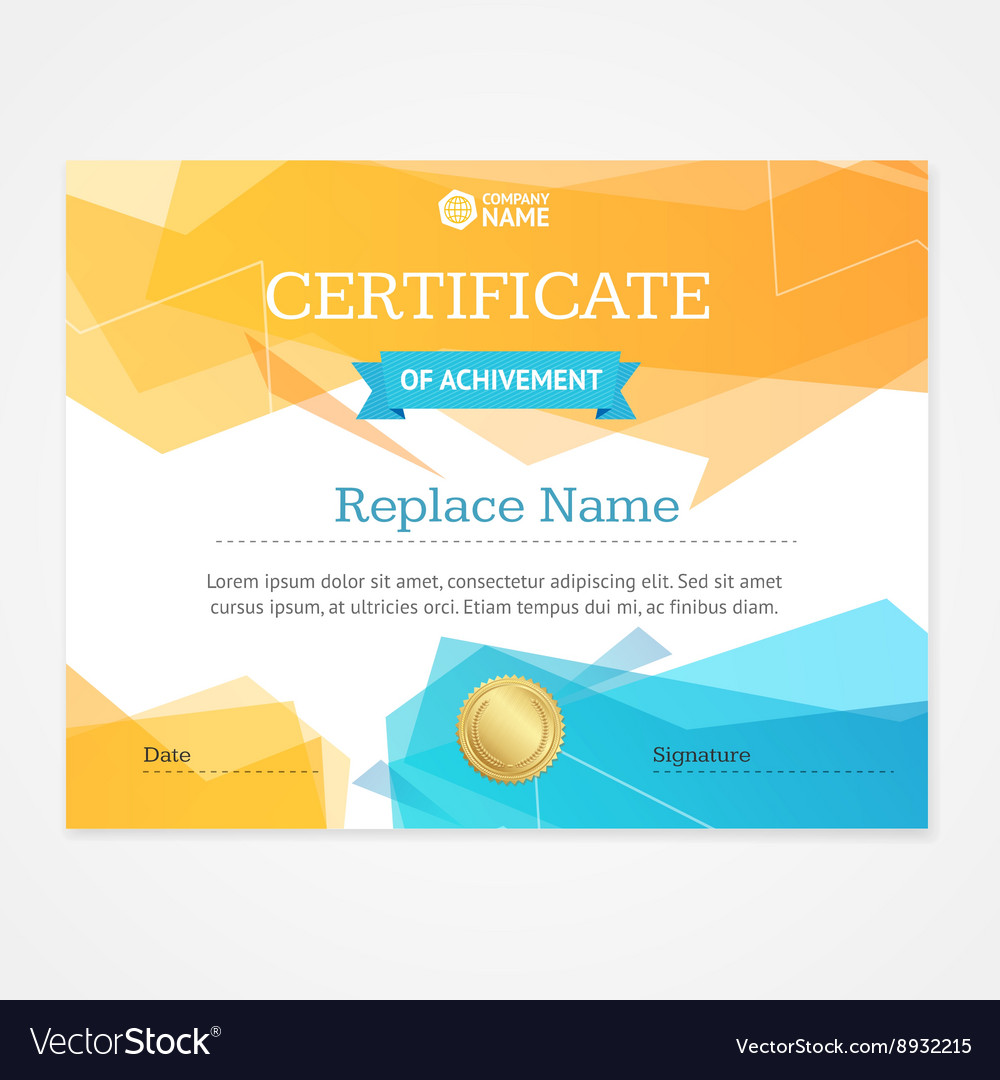 Modern certificate template horizontal royalty free vector modern certificate template horizontal vector image yadclub Image collections