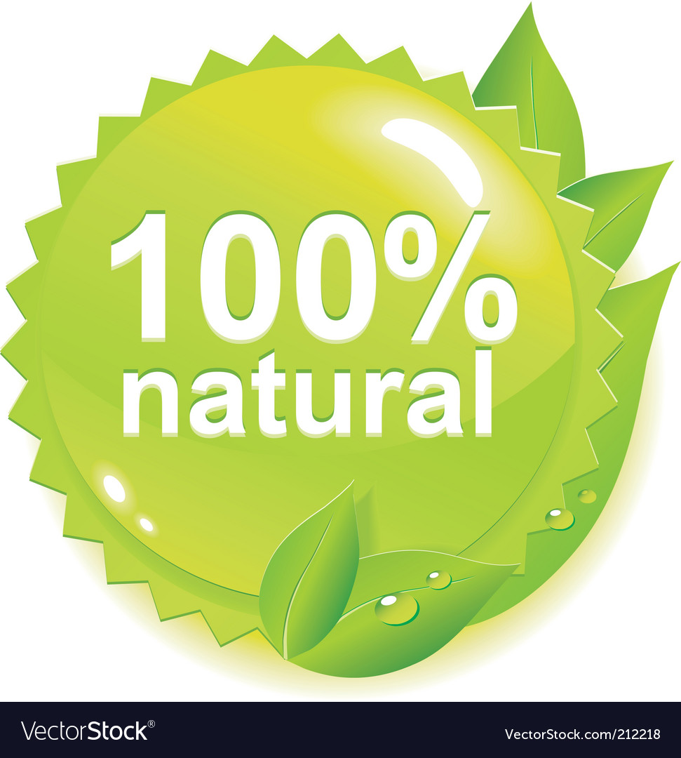 Ecology label vector image