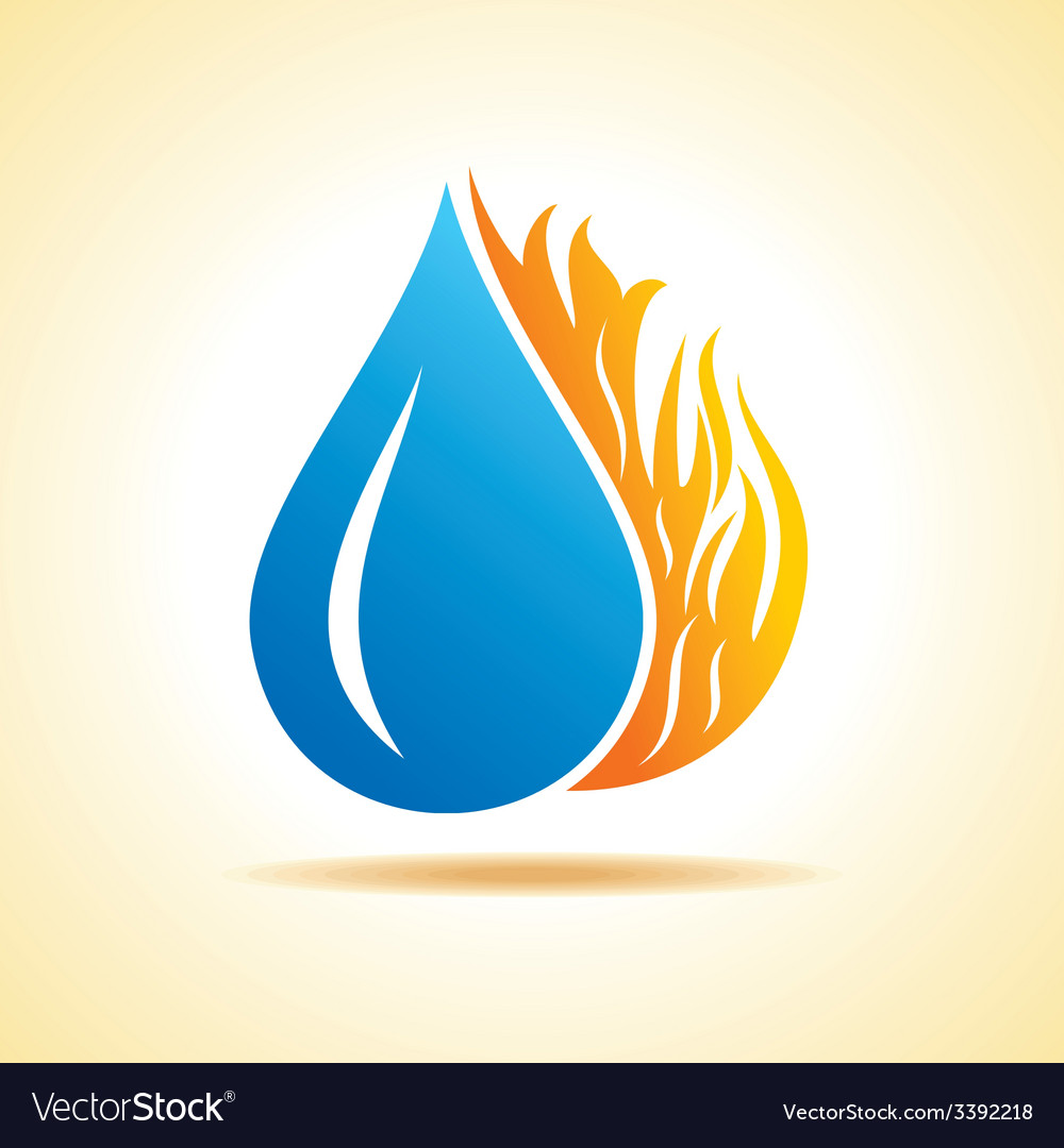 Fire and water concept royalty free vector image fire and water concept vector image biocorpaavc Choice Image