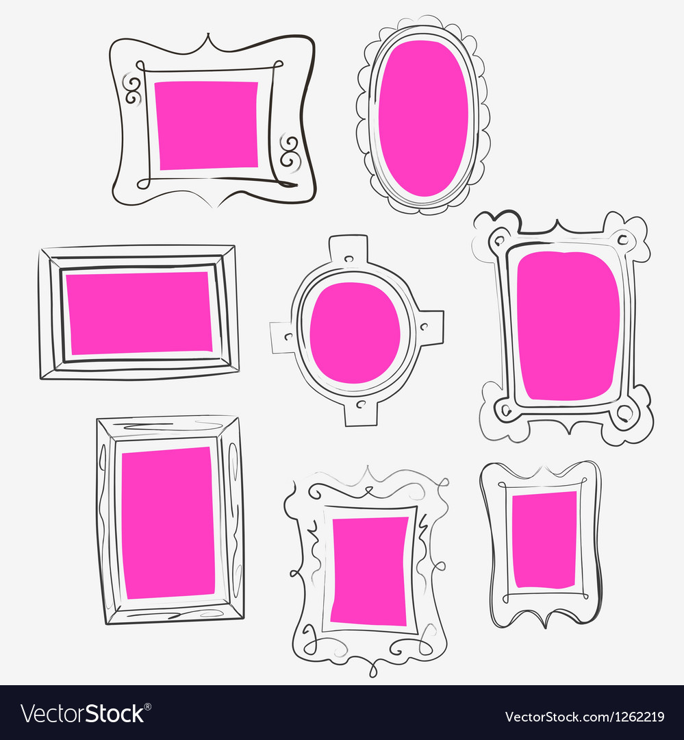 Fun pink frames vector image