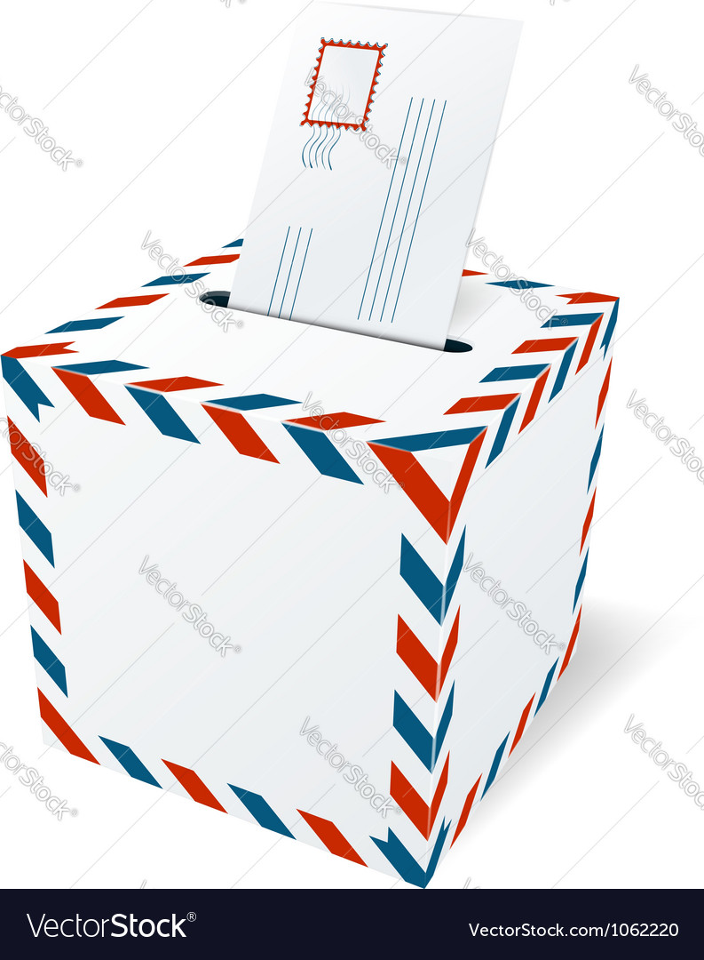 Mailbox with a letter vector image