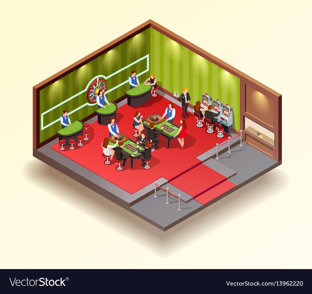 Casino isometric design concept vector image