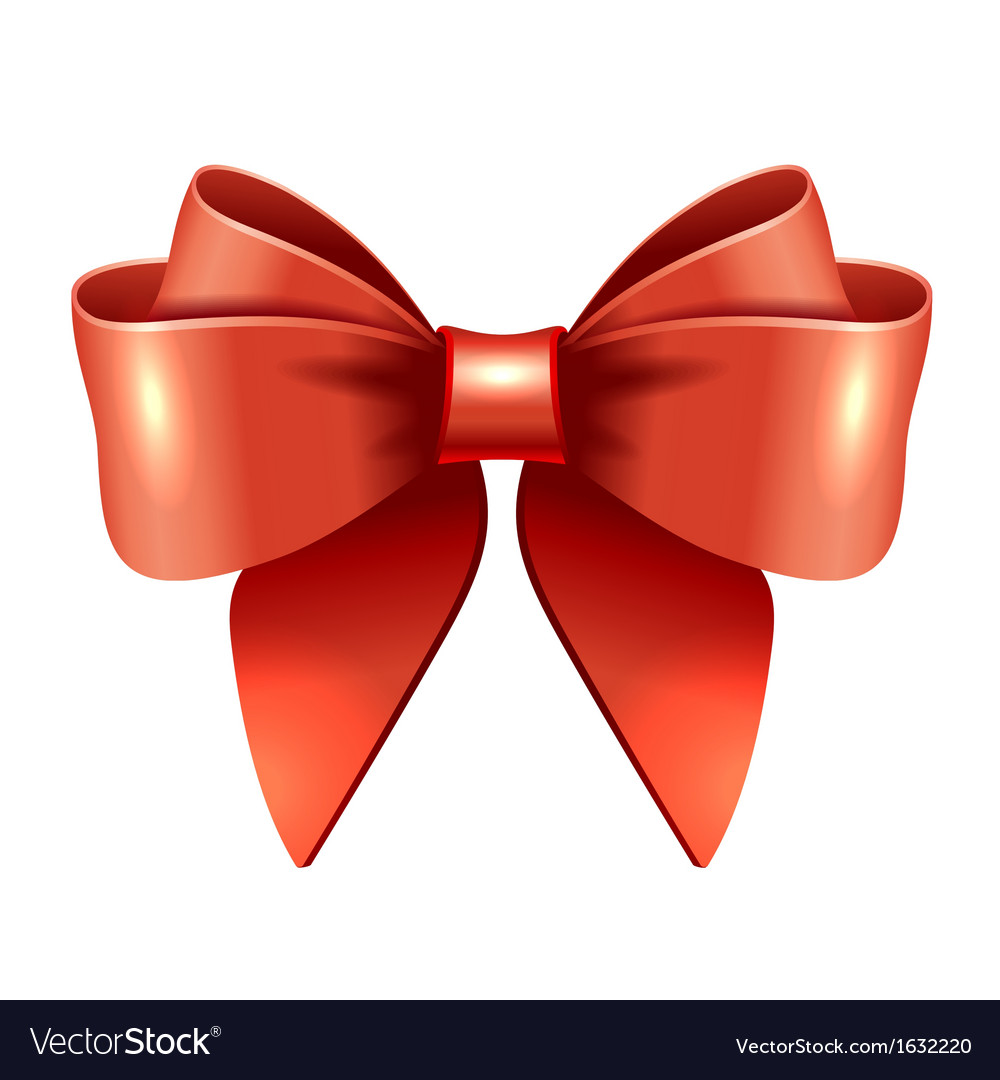 Red gift bow and ribbon royalty free vector image red gift bow and ribbon vector image negle Image collections