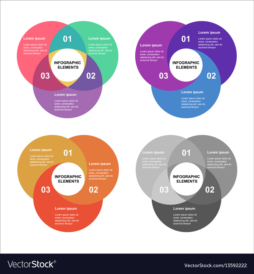Circle infographics set template for diagram vector image