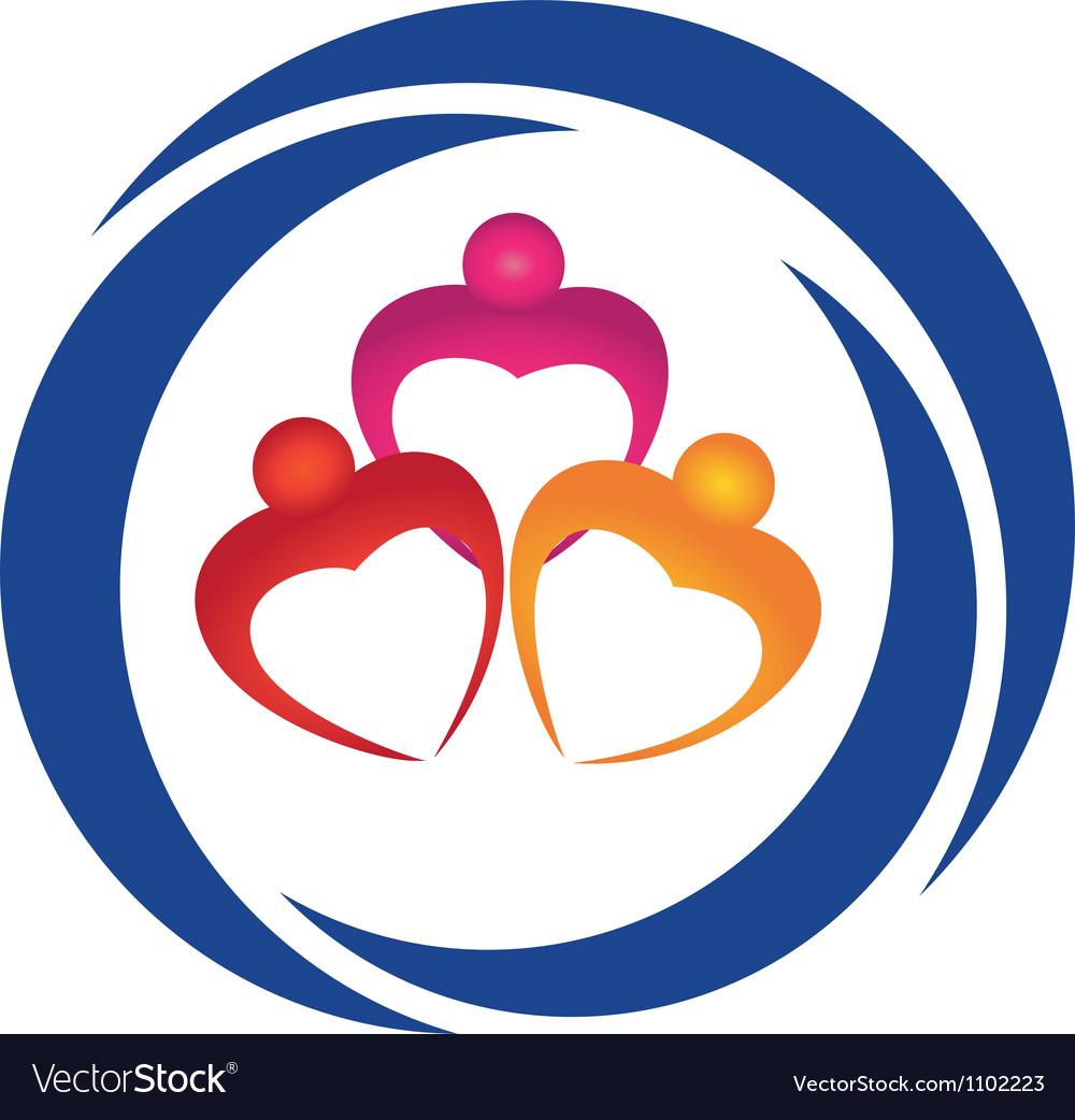 Hearts figures logo vector image