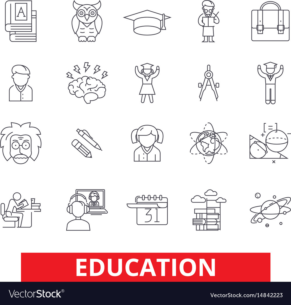 Education online study training learning vector image